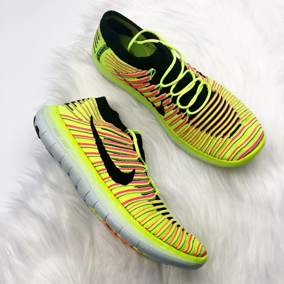 63b84316bae7ff New Nike Free Run Natural Neon Sneakers